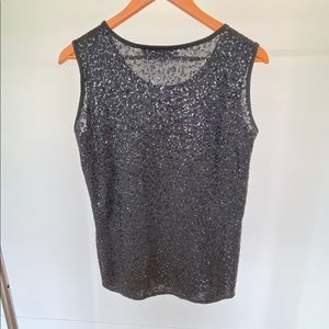 Caroline Rose Sequin Sleeveless Top